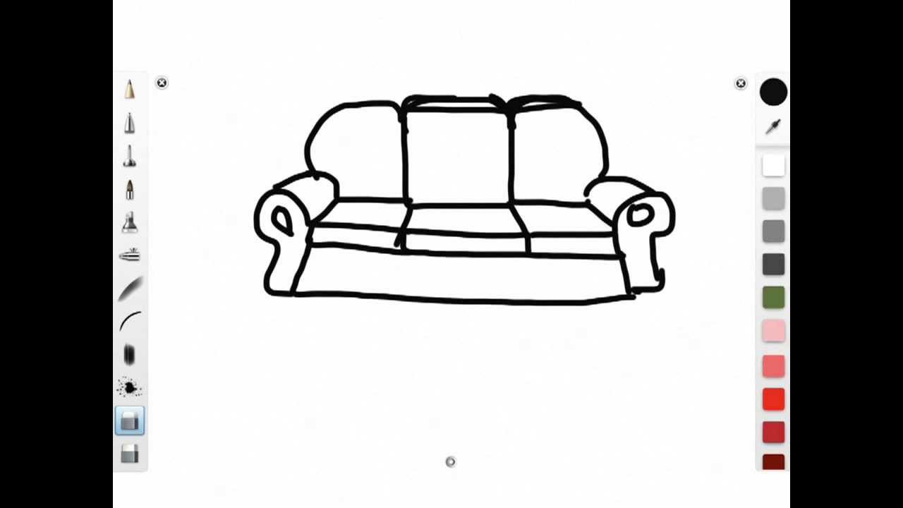 Chair Cartoon Drawing How to Draw a Simple Cartoon
