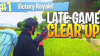 Is This NEW Gun OVERPOWERED? - Late Game CLEAR UP! - PS4 Pro Fortnite NEW GUN Gameplay