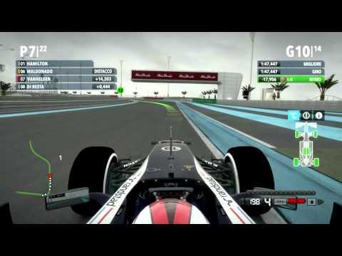 F1 2012 Gran Premio di Abu Dhabi Gameplay Ita PC - Fino all'ultimo giro -