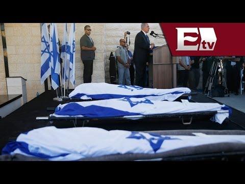 Multitudinario funeral a los tres jóvenes israelíes asesinados en Cisjordania/ Global