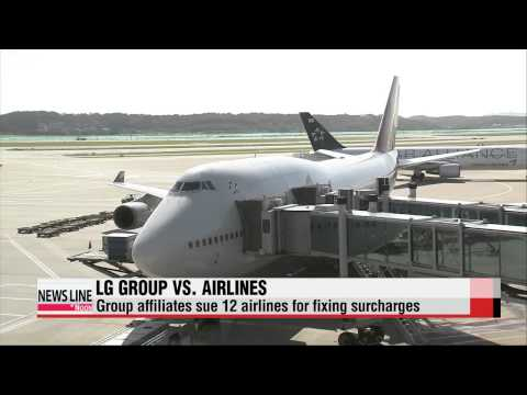 LG Group affiliates sue dozen airplane companies