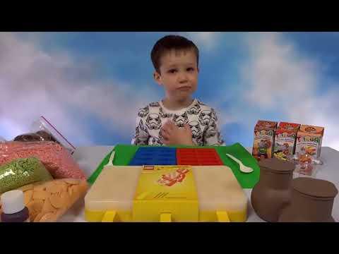 Лего фигурки и блоки из шоколада Макс делает конфеты и мороженое LEGO candy's & Ice Cream DIY