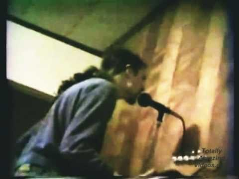 http://TotallyAmazingVideos.com -- Unbelievable recording. School & Mr. Mustache. This video is priceless. Nirvana live 1988! Kurt Cobain, Krist Novoselic & ...