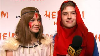Dylan Sprouse and Barbara Palvin Rock Halloween Costumes in Tribute to Their 'Favorite Characters'
