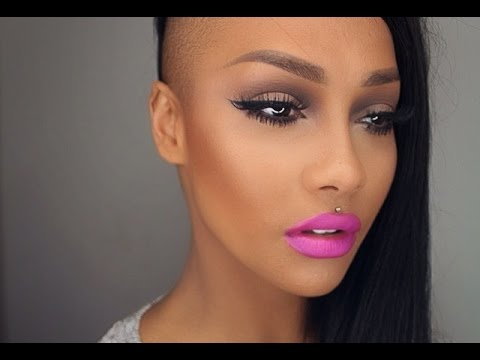 WINGED LINER & BOLD PINK LIP - SONJDRADELUXE