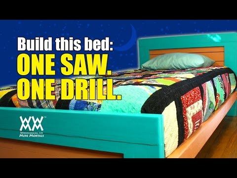 Don't Have a Workshop? Build This Bed With Limited Tools in a Small Space.