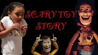 Scary Toy Story 4 Woody Come Play With Me Doll