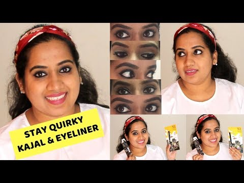 How to APPLY  KAJAL & EYELINER like celebrities 2019 | STAY QUIRKY REVIEW
