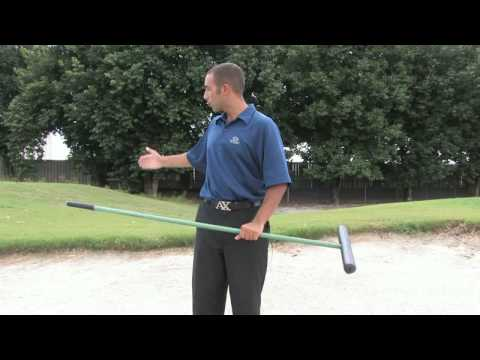 Golf Tips & Etiquette : Raking a Golf Bunker Video