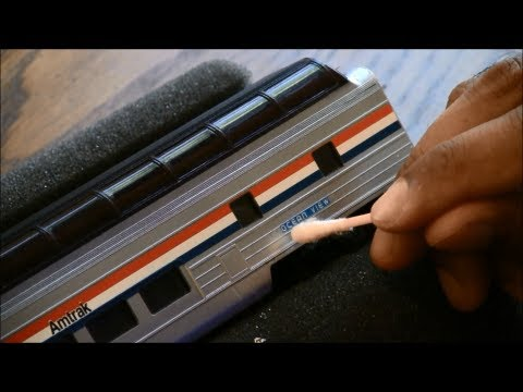 How to apply decals to model trains