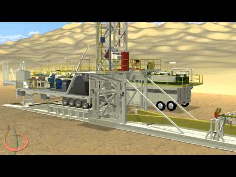 Arab Drilling Landrig - Rig Move Procedure - 3D Land-Rig Animation