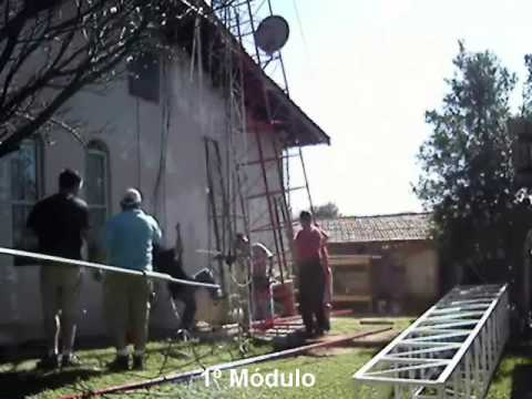 Ham Radio tower installation - PY2RMI - Valinhos - SP- Brazil