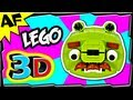 3D MOUSTACHE PIG - Lego Angry Birds Animated Review with Building Instructions