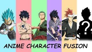Anime Characters Fusion #3: Vegeta + Gray Fullbuster + Roronoa Zoro + Sasuke Uchiha + Renji Abarai.