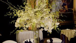 Tall Centrepiece With Cascading Orchids DIY