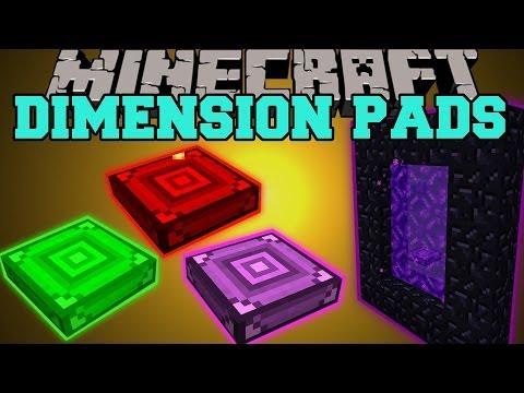 Minecraft: DIMENSION PADS (JUMP THROUGH DIMENSIONS. BURN MOBS. SPEED UP!) Mod Showcase