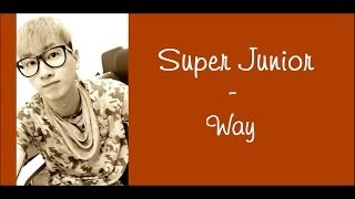 Watch Super Junior Way video
