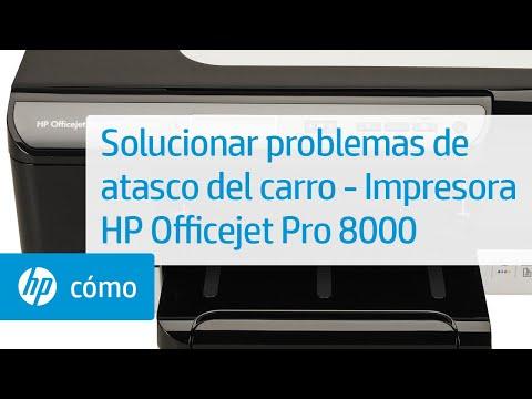 Solucionar problemas de atasco del carro - Impresora HP Officejet Pro 8000 (A809a)