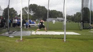 Tom Postema discus 54.96m
