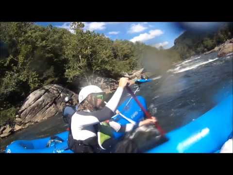 Upper Gauley Rafting - Swimming Iron Ring Twice