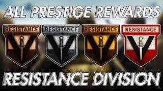 ALL PRESTIGE REWARDS FOR RESISTANCE DIVISION! (WW2 Division Prestige Rewards)