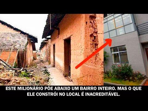Este milionário põe abaixo um bairro inteiro. Mas o que ele constrói no local é inacreditável.