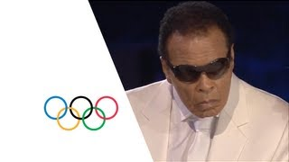 Muhammad Ali at the Opening Ceremony for the London 2012 Olympic Games