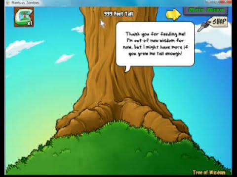 Plants vs Zombies - 1000ft tall Tree of Wisdom