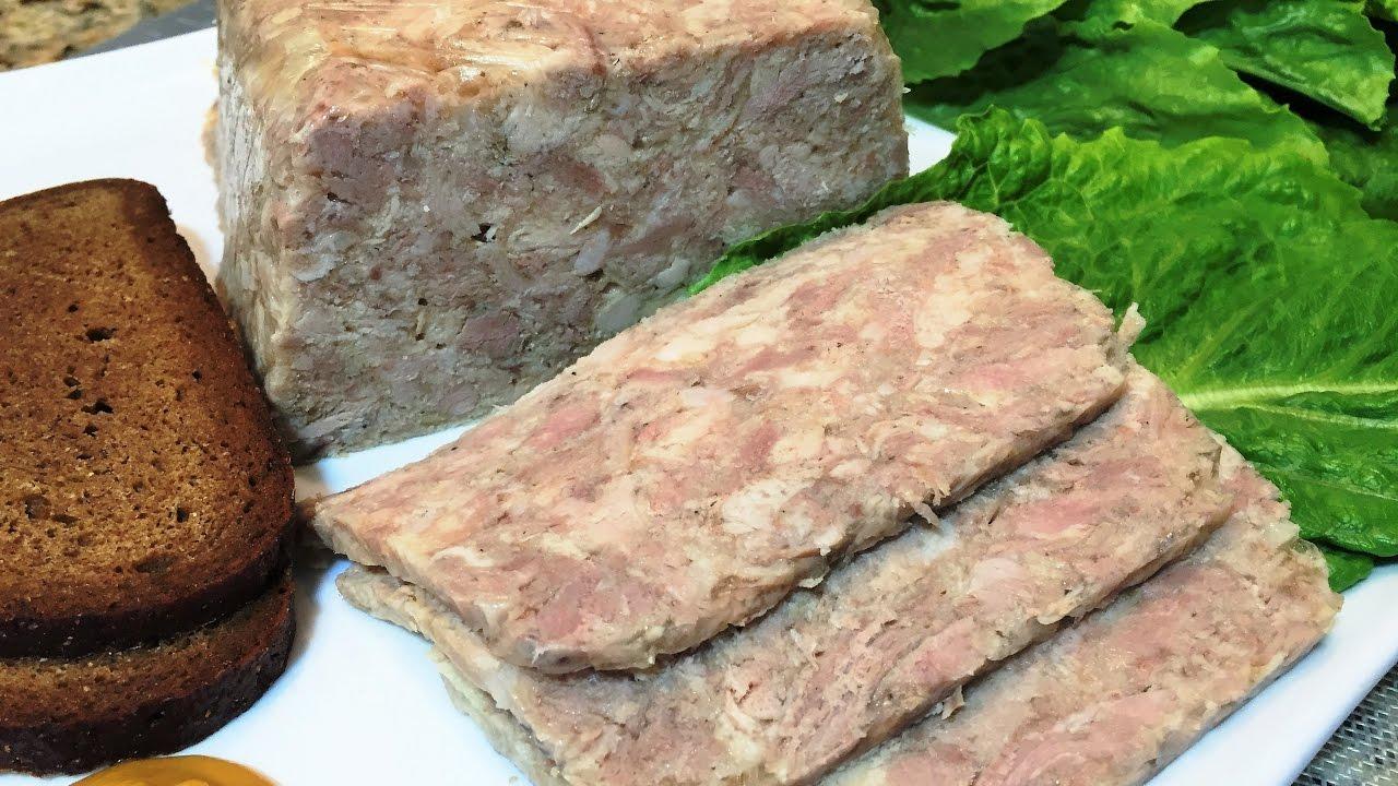 Как сделать прессованное мясо из свиной головы в домашних