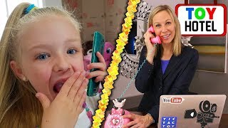 Calling Tic Tac Toy at Lucy's Toy Hotel!!! OMG They Answer and I Book a Room!!!