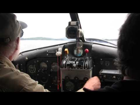 (Take off)  Airplane tour of Moosehead Lake, Maine