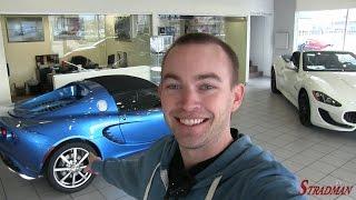 Test driving a Laser Blue Lotus Elise!