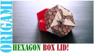Origami Daily - 442: Hexagon Box Lid Ver. 5  (modular 3 Unit) - Tcgames [hd]