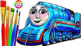 How to Draw Gordon Shooting Star ♦ Thomas and Friends ♦ Drawing and Colors Learning videos for Kids
