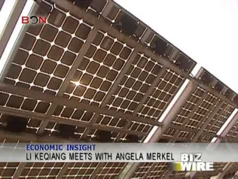 Li Keqiang meets with Angela Merkel - Biz Wire - May 27,2013 - BONTV China