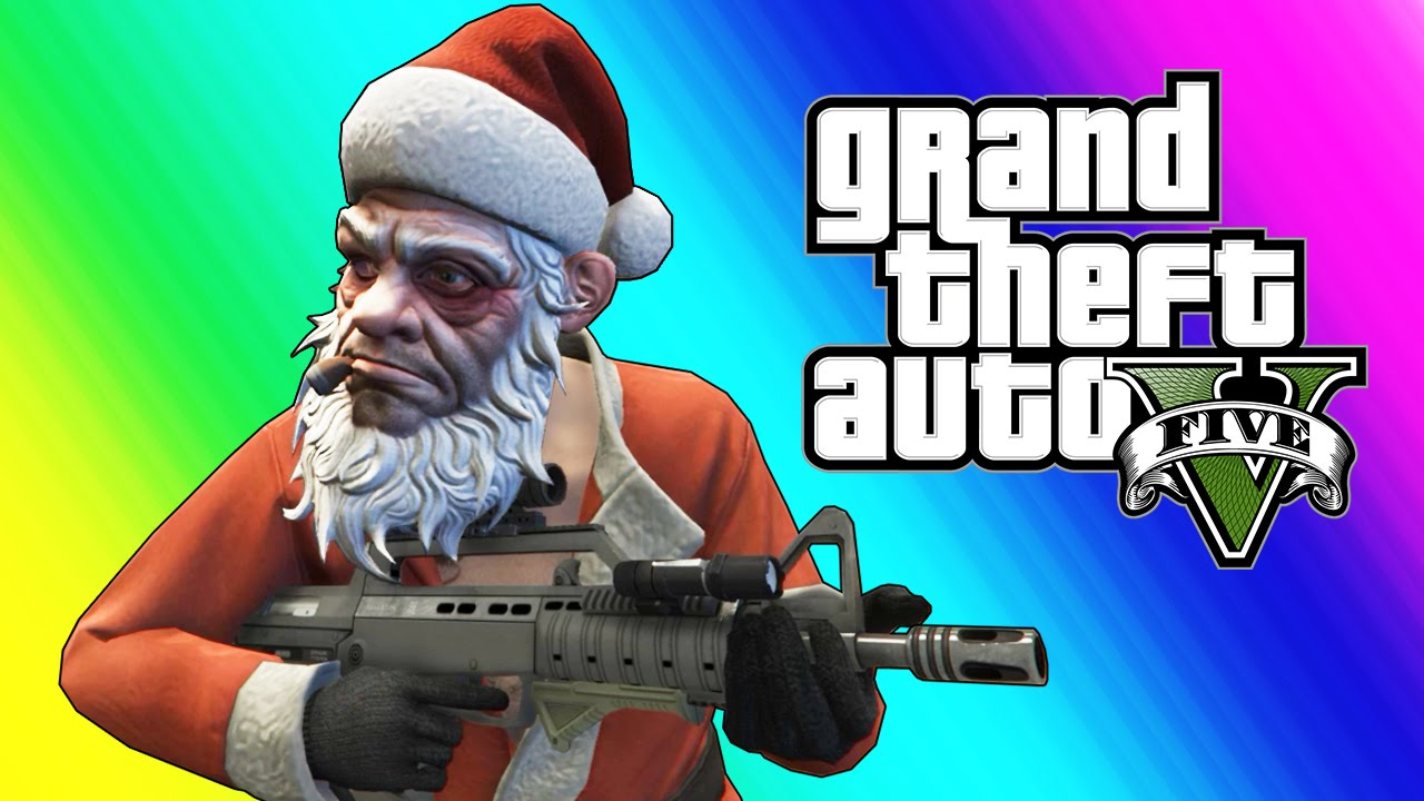 GTA 5 Funny Moments - Christmas Shopping, Santa Claus, & Yacht Dive Glitch (Day Before the Snow)