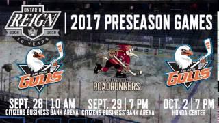 2017 Ontario Reign Preseason Games