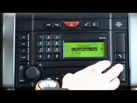 Basic Phone Functions In A Range Rover Sport Fitted With A