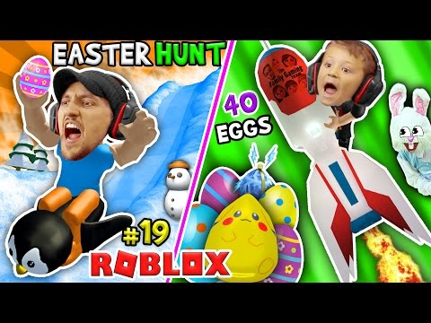ROBLOX EGG HUNT 2017!  40 LOST EGGS! (FGTEEV Happy Easter Bunny Challenge Game)