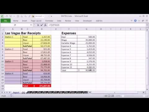 Excel Magic Trick 913: Select From Drop Down and Pull Data From Different Sheet