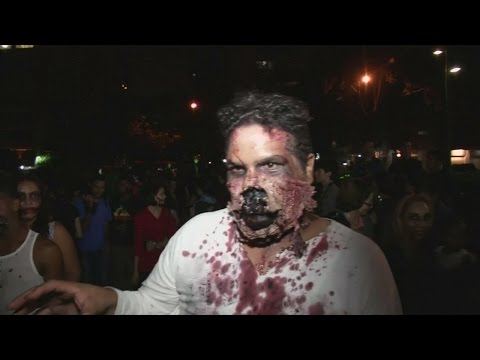 Zombies take over Caracas for Halloween