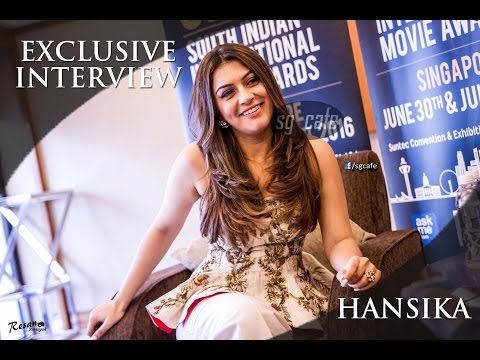 Exclusive Interview With Hansika - SIIMA 2016 in Singapore