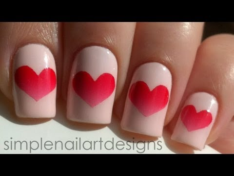 Valentine s Day Heart Nail Art Tutorial