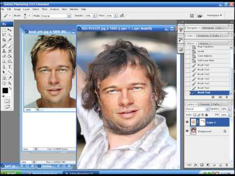 Photoshop CS5 Tutorial. Simple Face Replacement ( Face Swap ) in 3 ...