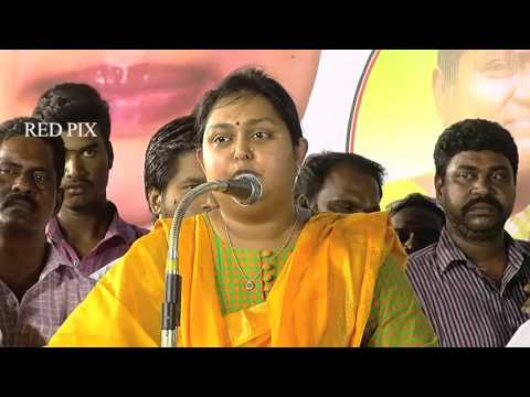 Tamil Nadu Election - Actress Vindhiya Teasing Stalin Vijayakanth and Karunanidhi - Must Watch