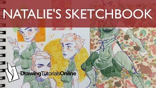 Natalie's Sketchbook - Character Design With Origami Paper