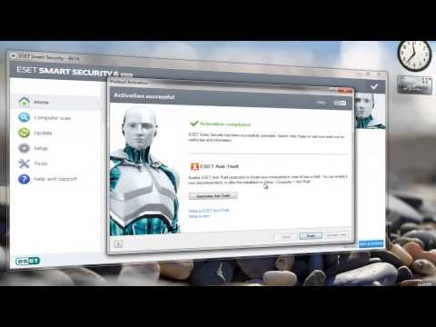 Eset Smart Security 6 Username and Password 2014