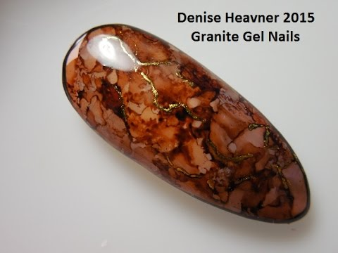 GRANITE / MARBLE Nails --- using ALCOHOL INK ---SEE HOW !