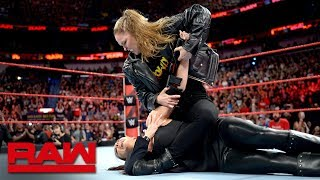 Ronda Rousey puts Stephanie McMahon in an Armbar: Raw April 9, 2018