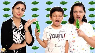 KARELA CHALLENGE #HEALTHY EATING | Good Habits Moral Story | Aayu and Pihu Show